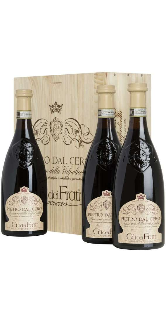 "3 Bottle Amarone ""Pietro Dal Cero"" in Wooden Box"