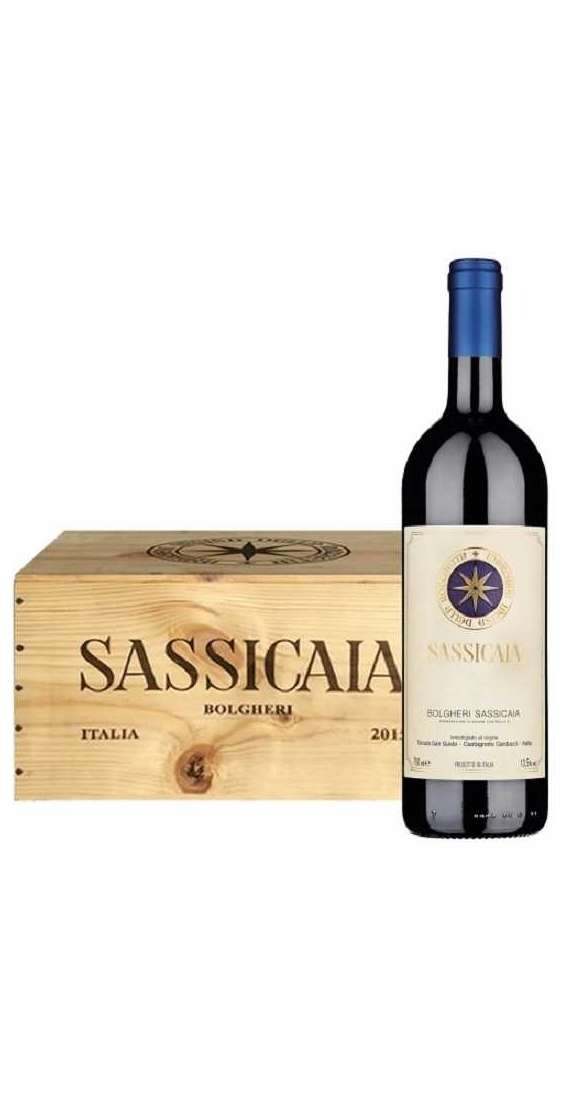 6 Bottle Sassicaia 2017 In Wooden Box