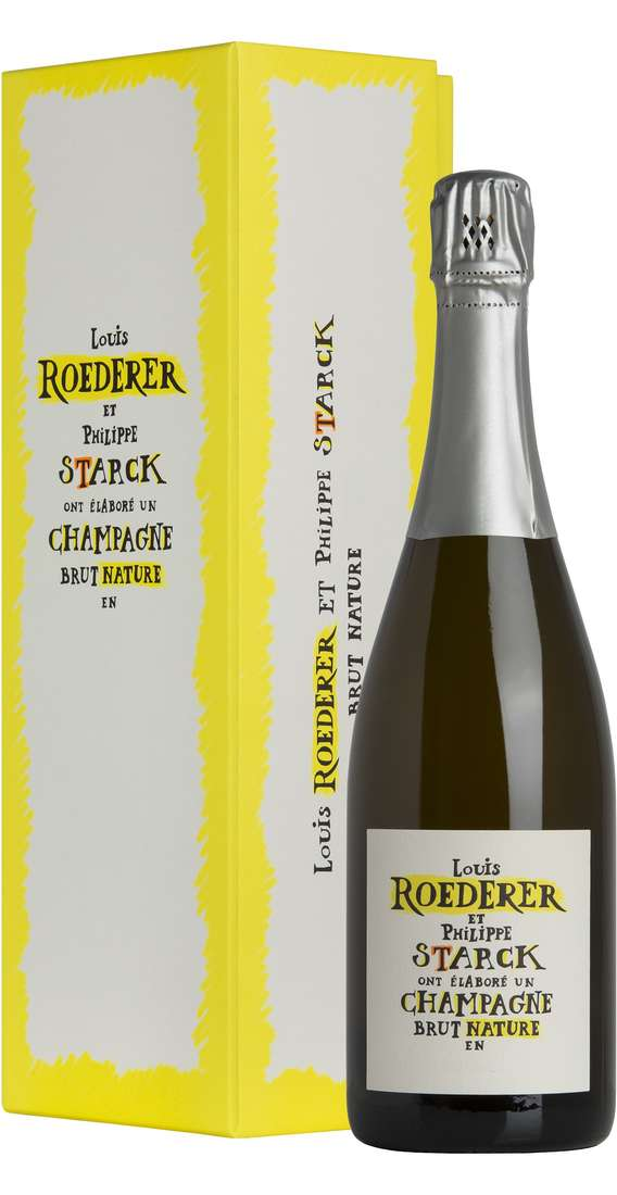 Champagne Brut Nature Louis Roederer & Philippe Starck 2009 in Box
