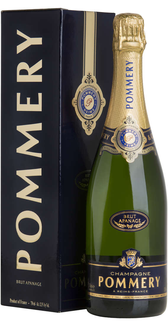 "Champagne POMMERY BRUT ""APANAGE"" In Box"