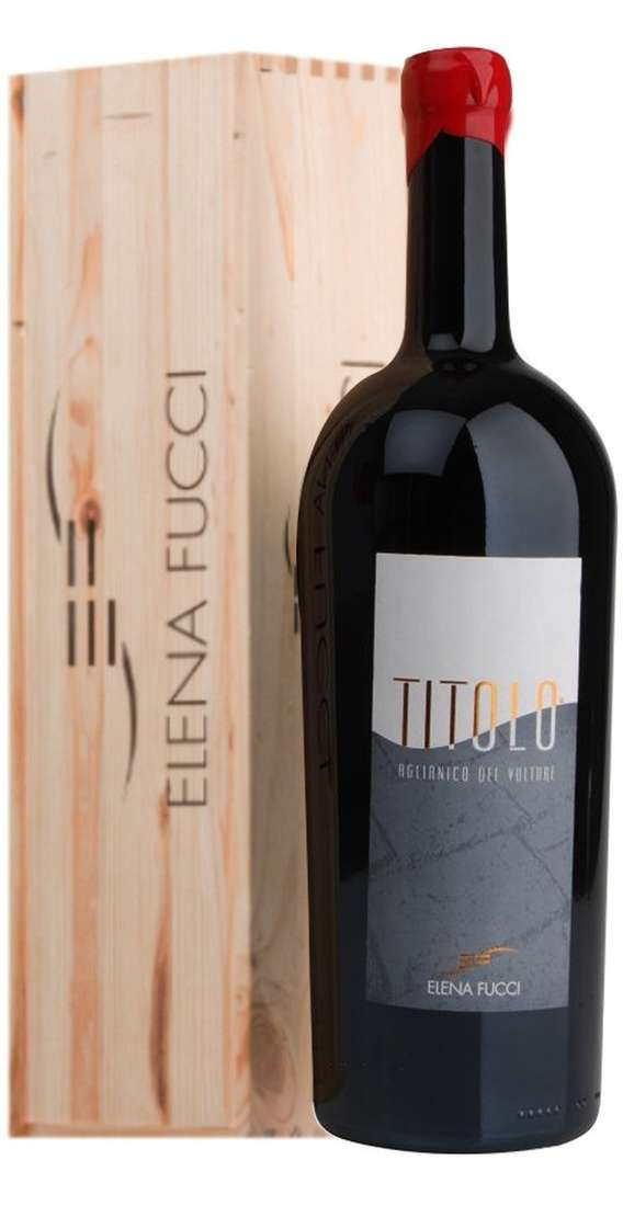 "Double Magnum 3 Liters Aglianico del Vulture ""TITOLO"" DOC in Wooden Box"