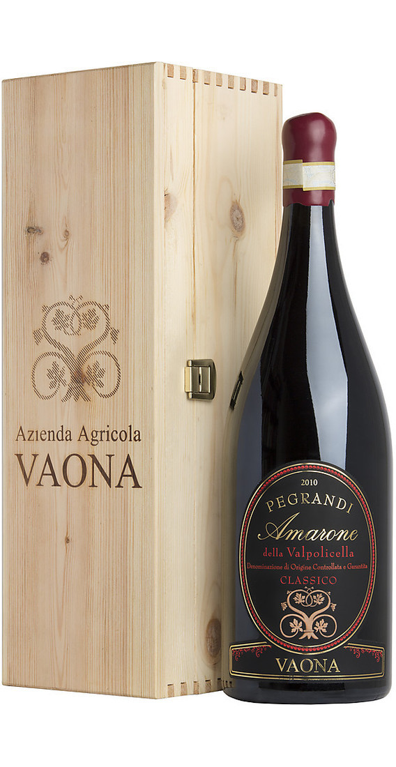 "Double Magnum 3 liters Amarone ""Pegrandi"" in Wooden Box"