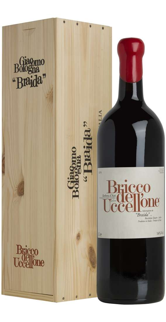 "Double Magnum 3 Liters Barbera d'Asti ""Bricco dell'Uccellone"" DOCG in Wooden Box"