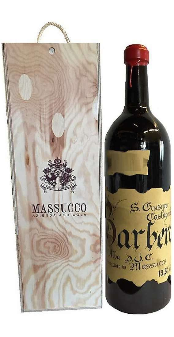 Double Magnum 3 Liters Barbera d'Alba DOC in Wooden Box