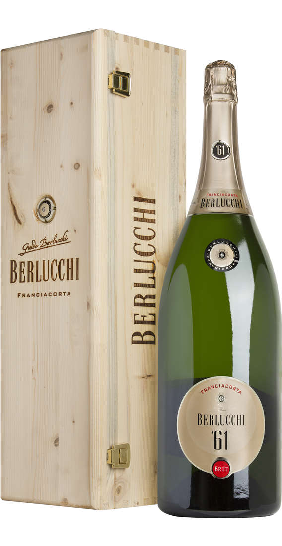 Double Magnum 3 liters Franciacorta Brut '61 DOCG in Wooden Box