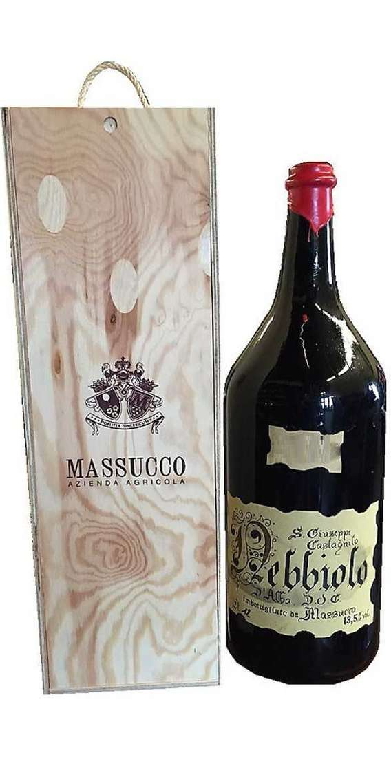 Double Magnum 3 Liters Nebbiolo d'Alba DOC in Wooden Box
