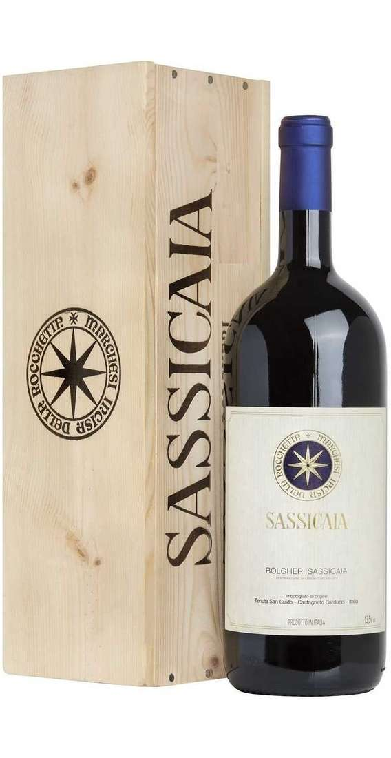 Double  Magnum 3 Litri Sassicaia in Wooden Box