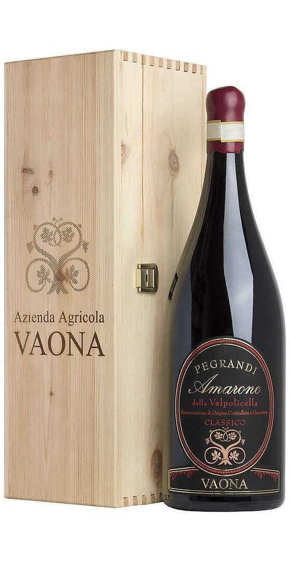 "Magnum 1,5 liters Amarone Classico DOCG 2015 ""Pegrandi"" in Wooden Box"
