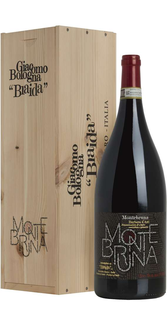 "Magnum 1,5 Liters Barbera d'Asti ""Montebruna"" DOCG in Wooden Box"