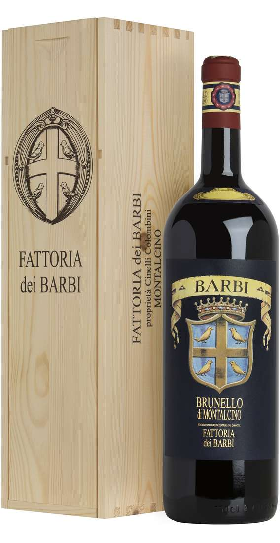 "Magnum 1,5 Liters Brunello di Montalcino ""Etichetta Blu"" DOCG In Wooden Box"
