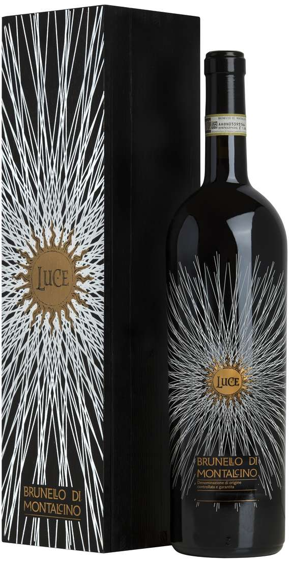 "Magnum 1,5 Liters Brunello di Montalcino""LUCE"" DOCG In Wooden Box"