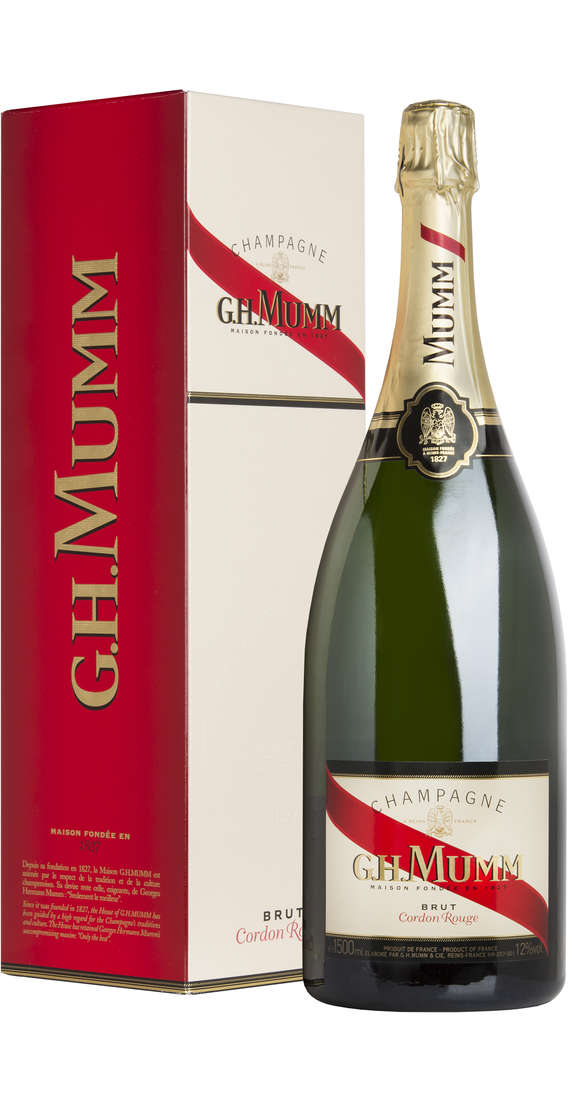 "Magnum 1,5 Liters Champagne Brut ""Cordon Rouge"" in Box"