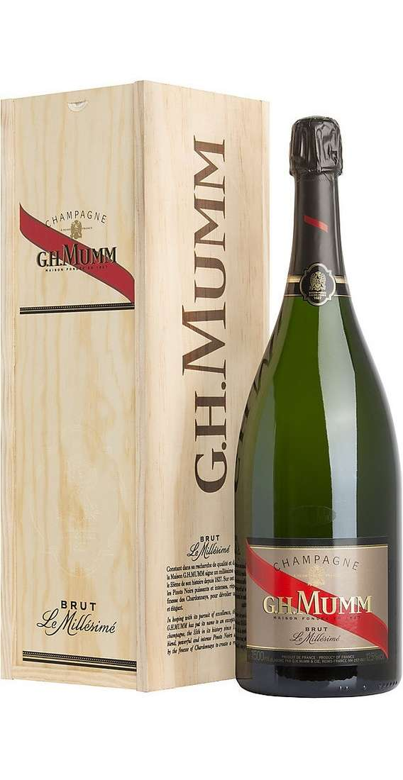 Magnum 1,5 Liters Champagne Millésime 2004 in Wooden Box