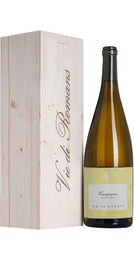 Magnum 1,5 Liters CIAMPAGNIS Chardonnay DOC in Wooden Box