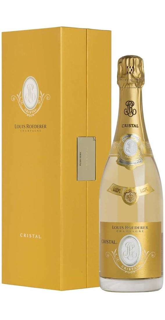 "Magnum 1,5 Liters ""Cristal"" Champagne Brut in Wooden Box"
