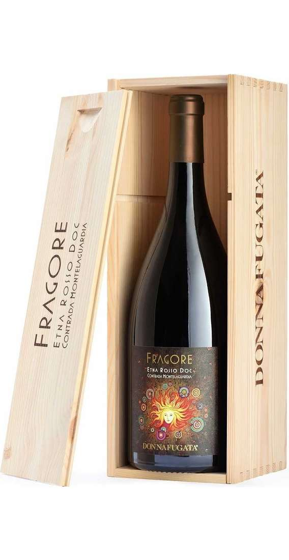 """Magnum 1,5 liters Etna Rosso """"FRAGORE"""" in wooden box"""