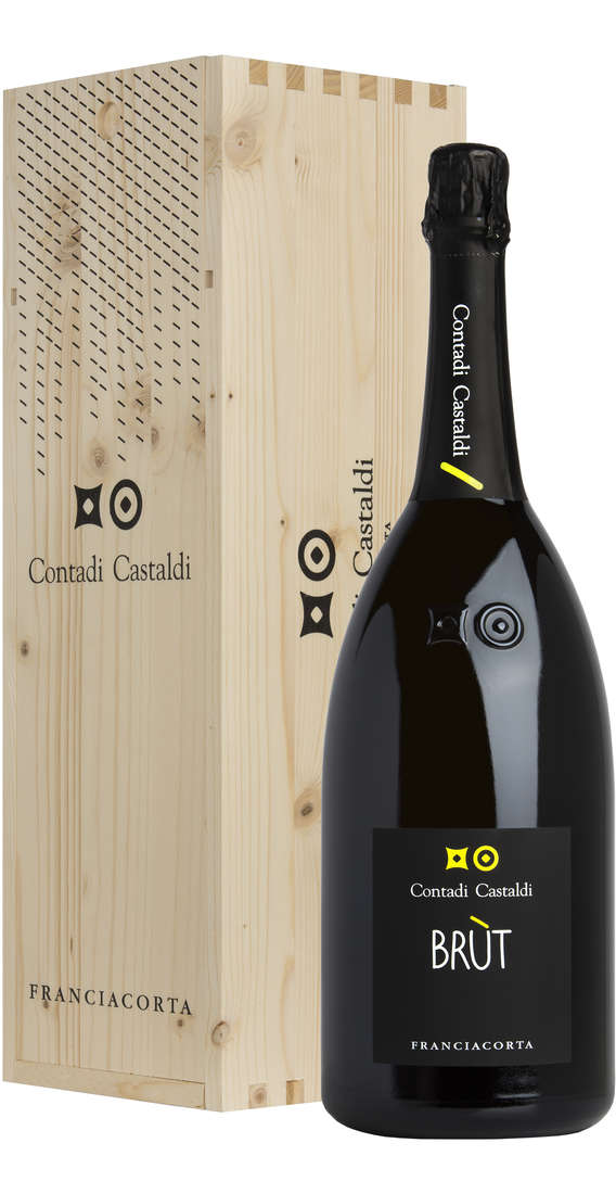Magnum 1,5 liters Franciacorta Brut DOCG in Wooden Box