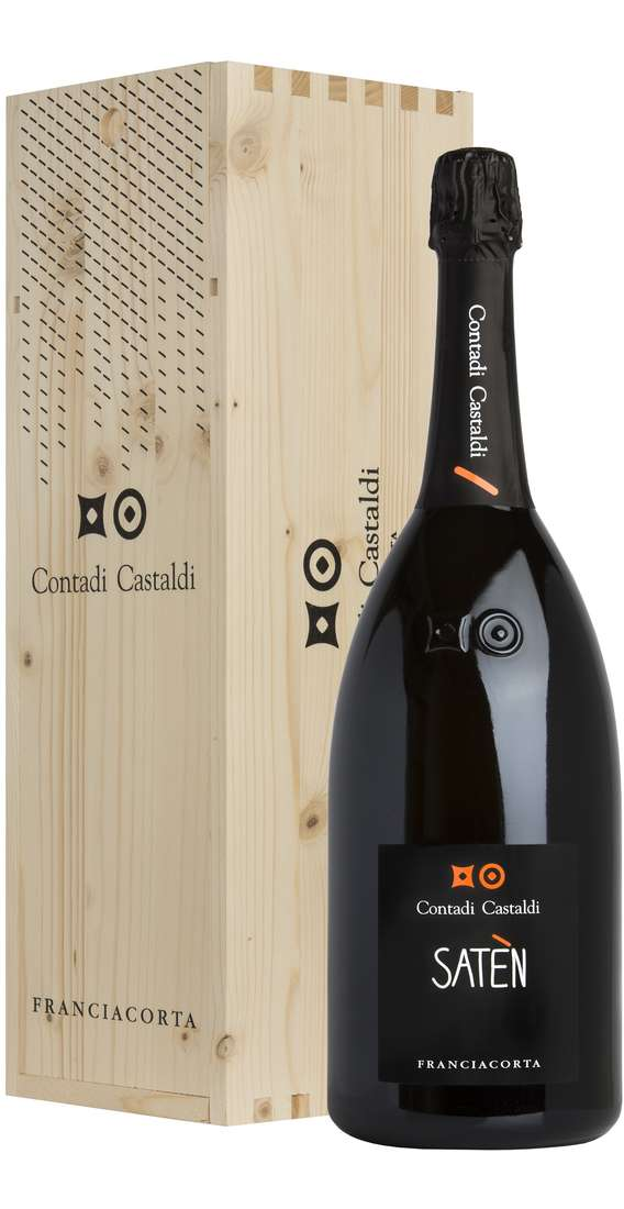 Magnum 1,5 liters Franciacorta Saten Millesimato DOCG in Wooden Box