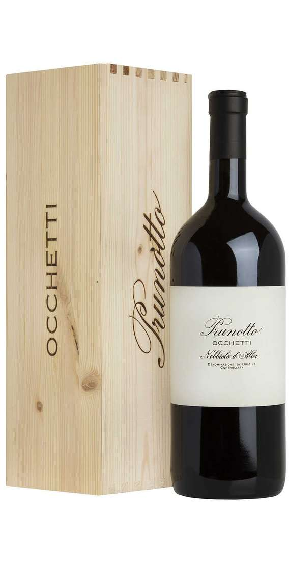 "Magnum 1,5 Liters Langhe Nebbiolo ""OCCHETTI"" DOC in Wooden Box"