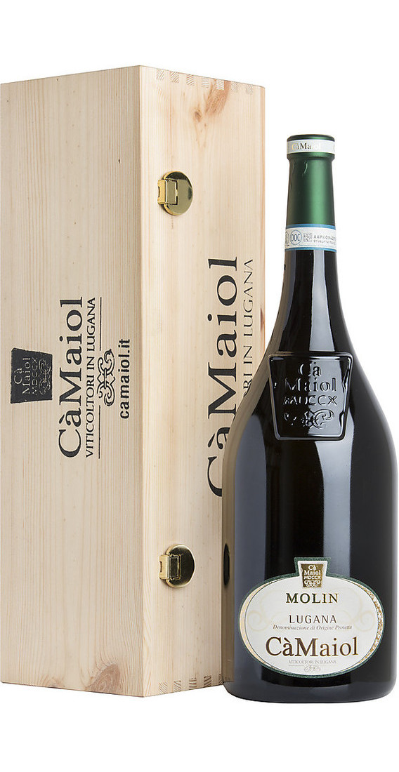 """Magnum 1,5 Liters Lugana """"Molin"""" DOC in Wooden Box"""