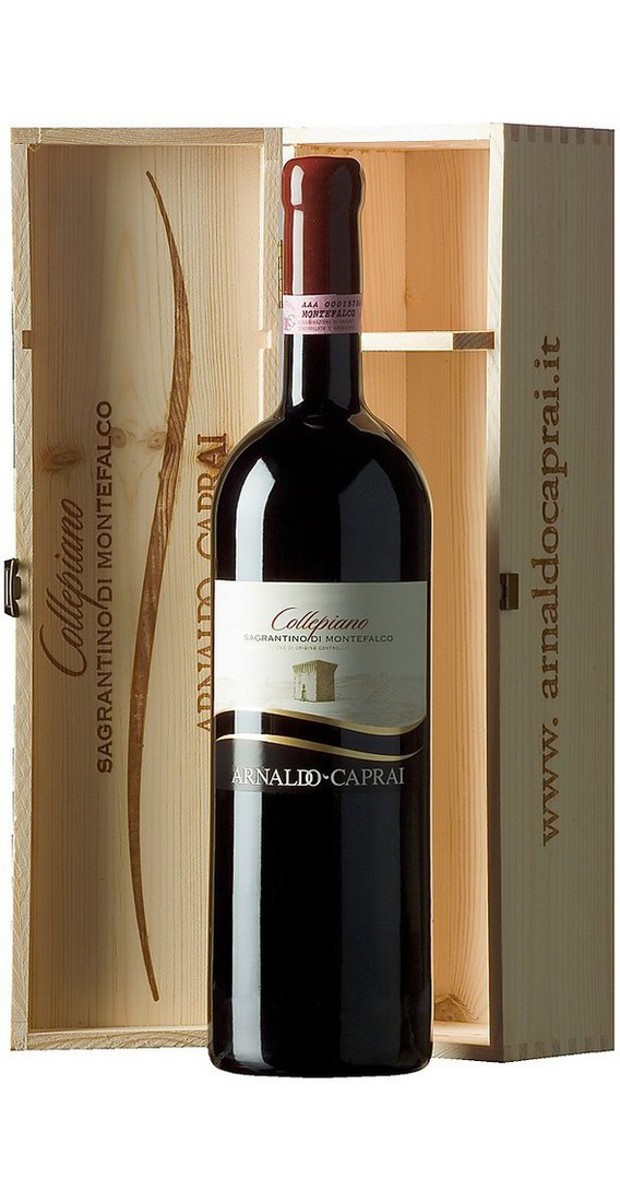 "Magnum 1,5 Liters Montefalco Sagrantino ""Collepiano"" DOCG in Wooden Box"