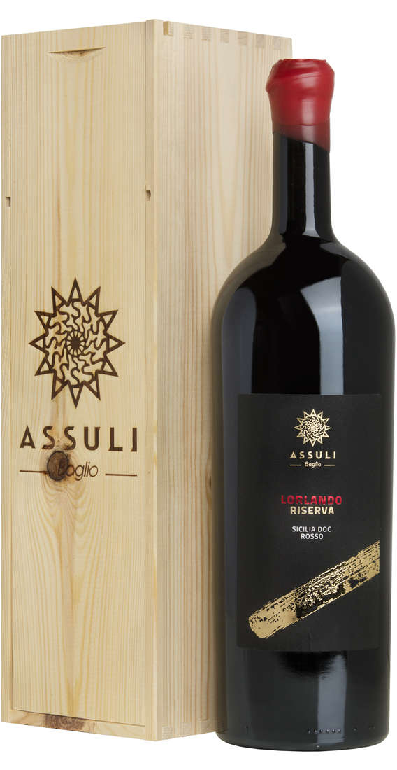 "Magnum 1,5 liters Nero d'Avola RISERVA ""Lorlando"" In Wooden Box"