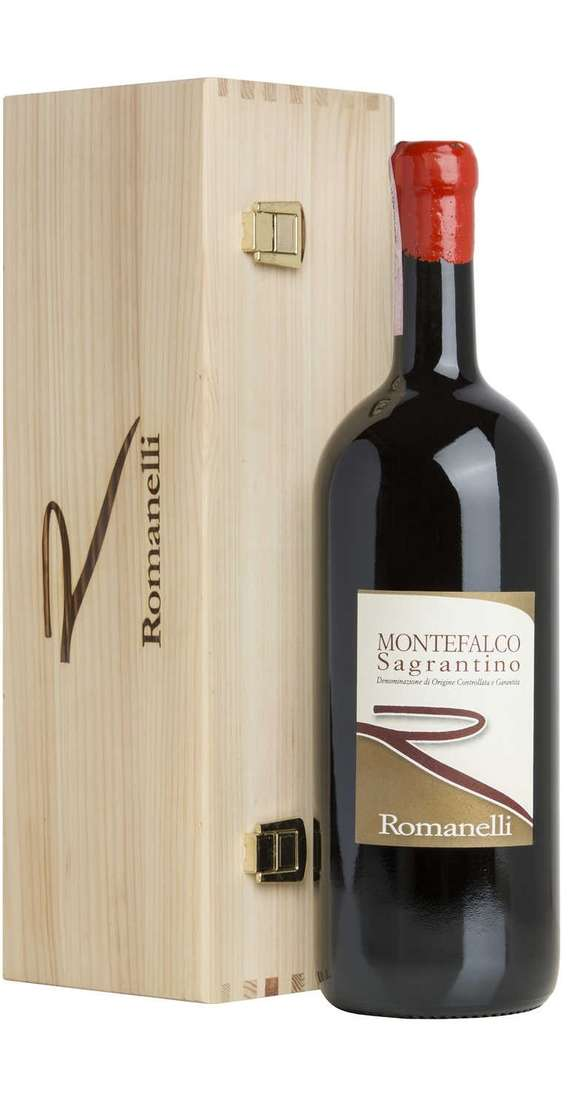 Magnum 1,5 Liters Sagrantino di Montefalco DOCG 2015 in Wooden Box