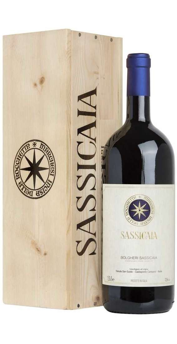 Magnum 1,5 liters Sassicaia 2018 in Wooden Box