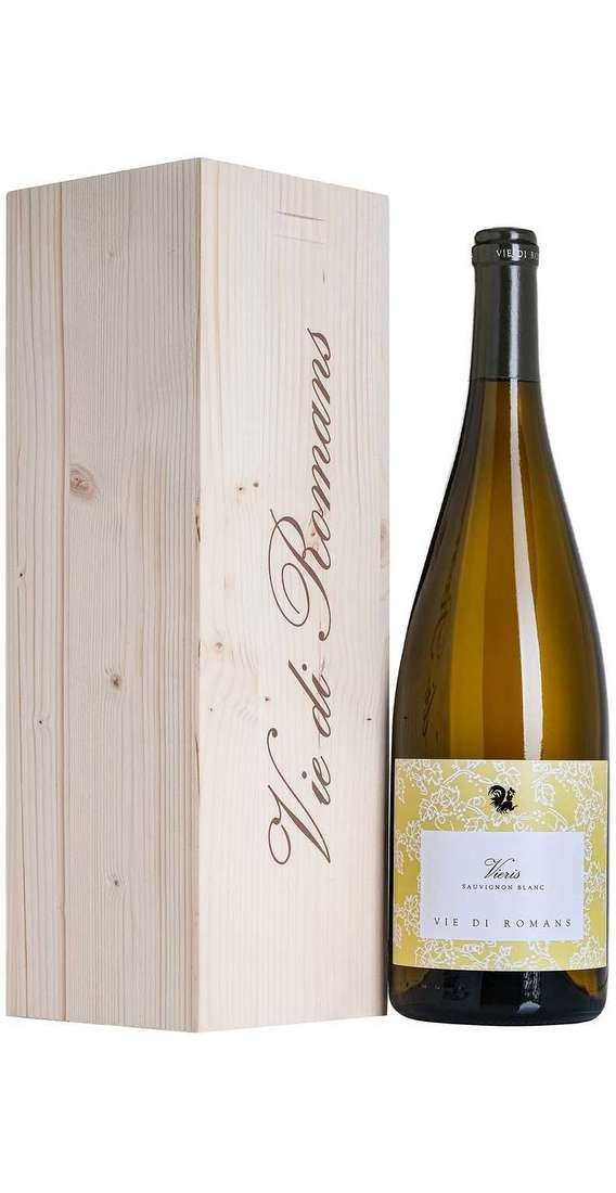 Magnum 1,5 Liters VIERIS Sauvignon DOC in Wooden Box